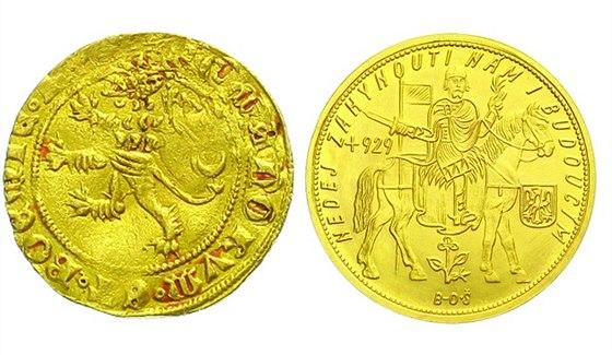 Karel IV., 1346 - 1378 Dukát císařský (po roce 1356), Cast.8 a 10 Dukát 1938 (raženo pouze 20 ks + 172 Slovenský štát)