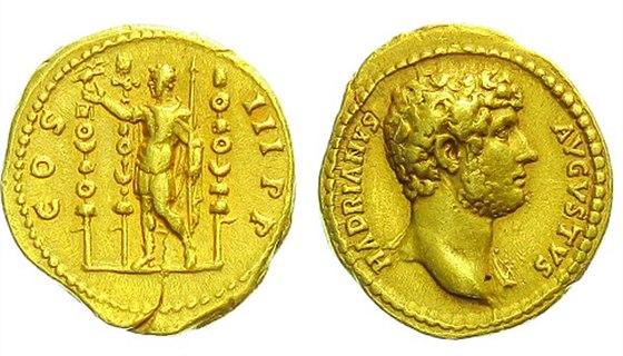 Hadrianus, 117 – 138, Aureus, 132 - 134, Rv: COS III PP