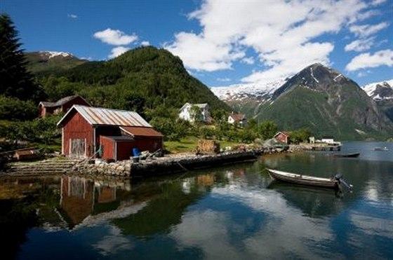 Fjord v Norsku