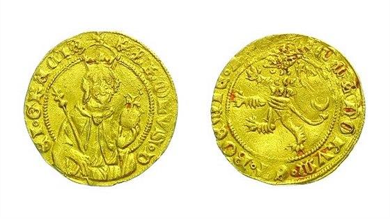 Karel IV., 1346 - 1378 Dukát císařský (po roce 1356), Cast.8 - vyvolávací cena 150.000