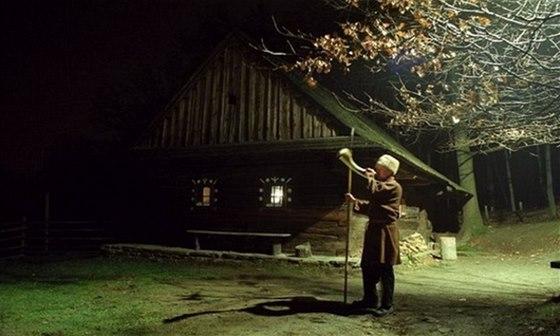 Setk�n� s Mikul�em ukon�� ve Vala�sk�m muzeu hlas ponocn�ho