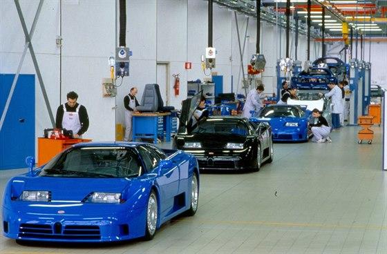 Výroba Bugatti EB110