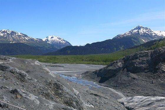 Údolí pod ledovcem Exit Glacier
