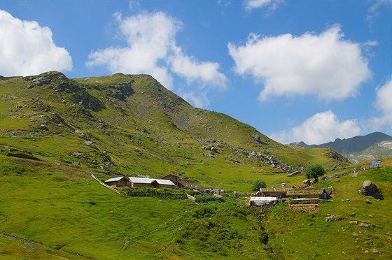 Salaše v kosovské části pohoří Prokletije