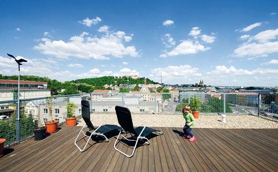Předností tohoto bytu je i výhled na okouzlující dominanty moravské metropole hrad Špilberk a vrch Petrov.