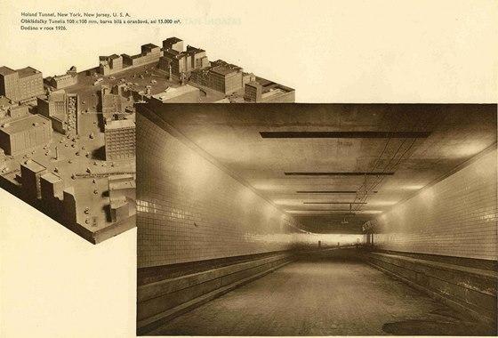 Tunel Holland, který spojuje pod řekou Hudson New York aNew Jersey, otevřený 13. listopadu 1927. Je pojmenován po hlavním inženýrovi, který zemřel tři roky před jeho dokončením. Keramička RAKO do tunelu dodala 15000 čtverečních metrů bílých, modrých a oranžových obkladaček Tunelia vyrobených vRakovníku speciálně pro tuto zakázku. Jejich rozměry 108 x 108 mm byly odvozeny zanglických měr. Za zmínku stojí, že ke kontrole výroby celé zakázky akpřejímání zboží byl do rakovnické továrny vyslán zAmeriky inženýr, který měl na starosti sledovat celou zakázku až po kompletní vyexpedování.