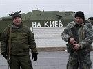 Proruští separatisté nedaleko Luhanska (19. listopadu 2014)