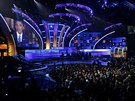 Obama svůj projev o reformě imigrace načasoval na večer, kdy se v Las Vegas udělovaly hudební ceny Latin Grammy. Publikum si prezidenta poslechlo. (21. listopadu 2014)