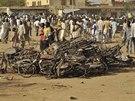 Následky teroristického útoku na mešitu v nigerijském městě Kano (28. listopadu 2014)