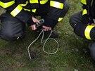 Frýdecko-místečtí hasiči od čtvrtka v okolí celnice pravidelně monitorují výskyt metanu.