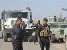 Členové iráckých bezpečnostních sil a šíitských milicí v provincii Dijála (19. listopadu 2014).