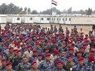 Cvičení příslušníků sunnitských kmenů proti Islámskému státu (16. listopadu 2014).