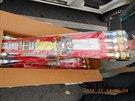 Zabavené pyrotechniky bylo ve 160 krabicích celkem 2,5 tuny