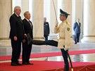 Prezident Milo� Zeman se v Astan� se�el s  kaza�sk�m prezidentem Nursultanem Nazarbajevem.