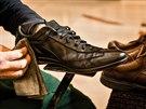 Čištění bot se mi líbilo odjakživa, říká Michal Grivalský.