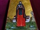 Rakve a hroby sostatky významných představených kláštera zdobí jednoduchý přehoz, svíčka a ikona světce, který byl představenému nejbližší.