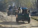 "Afgh�nsk� policie b�hem operace ""Hungry Lion"" v okol� afgh�nsk�ho Bagr�mu"
