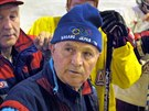 Rusk� hokejov� tren�r Viktor Tichonov p�ed utk�n�m CSKA Moskva v Liberci. (9. srpna 2002)
