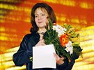 Here�ka Libu�e �afr�nkov� na Mezin�rodn�m festivalu film� pro d�ti a ml�de� ve Zl�n�. (3. �ervna 2007)