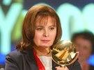Here�ka Libu�e �afr�nkov� p�i p�ed�v�n� televizn�ch cen T�T�. (22. �nora 2004)
