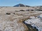 Přírodní poprašek je v Krkonoších třeba u Luční boudě (na snímku) nebo na Sněžce (23. listopadu 2014).