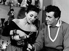 Joan Collinsová s prvním manželem Maxwellem Reedem.