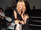 Simona Krainová se svými syny