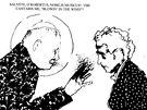Bob Dylan a papež Jan Pavel II. - karikatura (z knihy Kdo je ten chlap?)