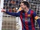 JE TAM. Lionel Messi z Barcelony slaví gól.