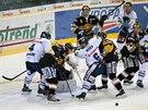 Momentka ze zápasu Liberec - Litvínov
