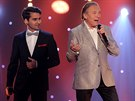 Vyhla�ovac� ve�er �esk�ho slav�ka za rok 2014 zah�jil duet Karla Gotta s Patrikem Bangou (29. listopadu 2014).