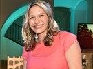 Moderátorka Barbora Černošková na aukci panenek pro UNICEF, akci moderoval Karel Voříšek.
