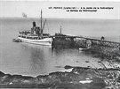 Saint-Philibert zakotvený u mola na ostrově Noirmoutier