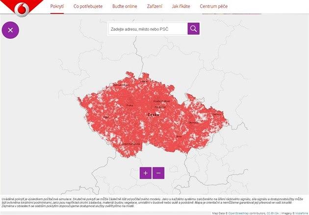 Mapa pokrytí Turbo Internetem z váno�ní kampan�