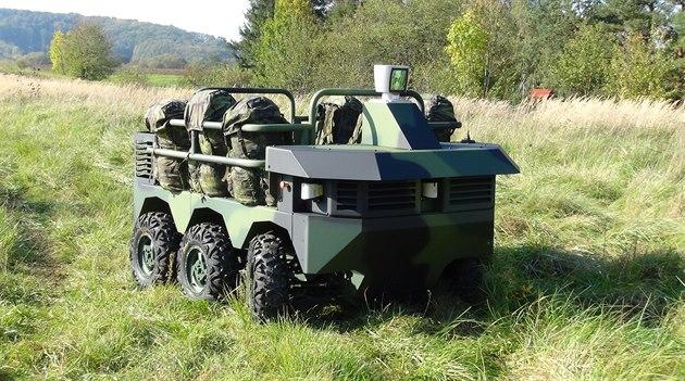 Prototyp �eského vojenského robotického vozidla TAROS V2