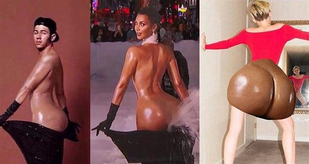 Z Kim Kardashianové si ud�lali legraci Nick Jonas, Miley Cyrusová a ud�lali z...