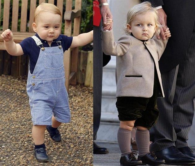 Princ George a Sacha Casiraghi