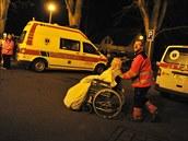 Návrat evakuovaných pacient� do havlí�kobrodské nemocnice (20. 11. 2014)