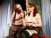 KOMEDIANTI, Divadlo Na Jezerce /   P. Vacek, K. Issova, rež. .A. Goldflam / foto Ivan Kahún 2013