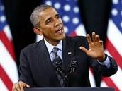 Barack Obama oznamuje mírn�j�í p�ist�hovaleckou politiku (21. listopadu 2014).