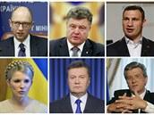 Hlavní tvá�e ukrajinských revolucí - protest� na Majdanu z roku 2013 a oran�ové...