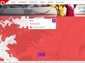 Pokrytí Jevíčka a blízkého okolí Turbo Internetem - mapa z vánoční kampaně