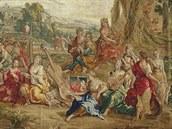 Cena rozm�rné bruselské tapiserie zprvní poloviny 18. století se b�hem...