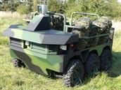 Prototyp českého vojenského robotického vozidla TAROS V2 ve verzi 6x6.