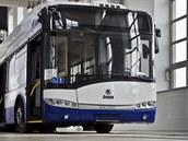 Slavnostní odhalení jubilejního trolejbusu s po�adovým �íslem 14 000.