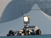Lewis Hamilton v tréninkové jízd� p�ed Velkou cenou Abú Zabí formule 1.
