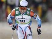 Český sdruženář Miroslav Dvořák si jede pro třetí místo v úvodním závodě Světového poháru ve finské Ruce.
