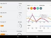 Pro správné měření spotřeby kalorií a dalších parametrů je třeba do aplikace Google Fit zadat míry a hmotnost uživatele.