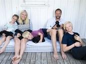 Norský korunní princ Haakon, jeho man�elka princezna Mette-Marit a jejich d�ti...