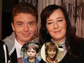 Milan �imá�ek a �aneta Fuchsová v roce 2014 a jako d�tské hv�zdy seriálu...